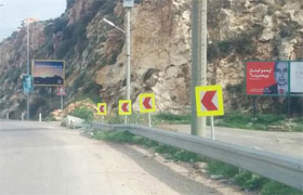 Installation of retro-reflective markings on Palma Highway