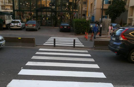 Installation of a safe crossing in Sassine