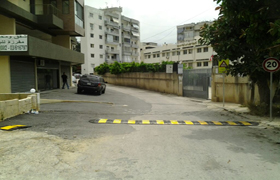 Installation of a safe crossing in Zouk Mikael
